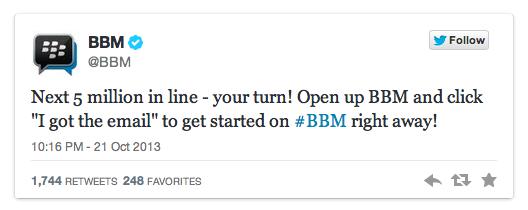 bbm line up twitter