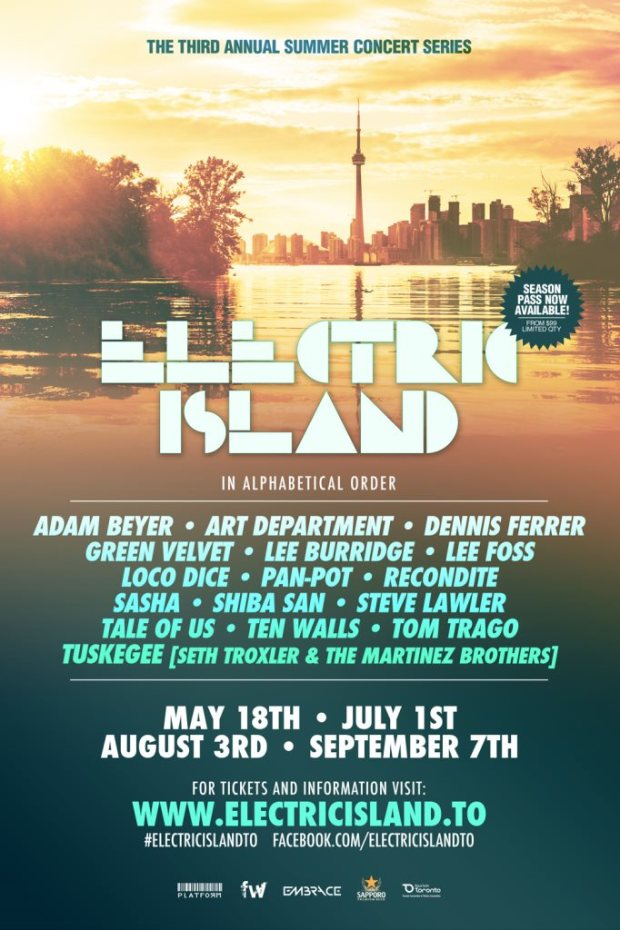 electric island full line up 2015
